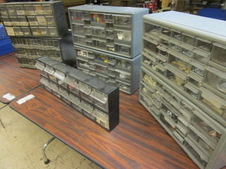 SHOP STORAGE UNITS, WITH ASSORTED SCREWS AND OTHER HARDWARE