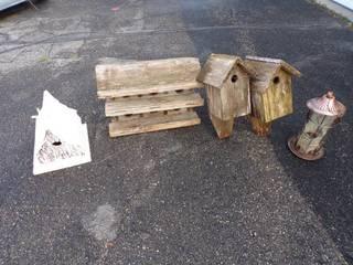 Bird Houses and bird feeder