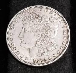 1880 MORGAN SILVER DOLLAR XF