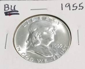 1955 FRANKLIN HALF DOLLAR BU