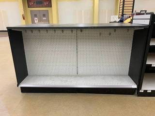 Display counter with storage in the...