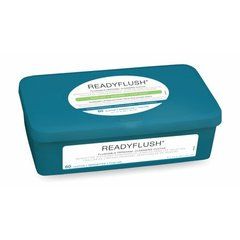 ReadyFlush 8x12 Personal Cleansing Cloths - Tub of 60 Flushable Wipes