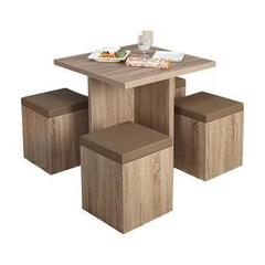 Simple Living 5 piece Baxter Dining Set with Storage Ottomans Retail:$284.99