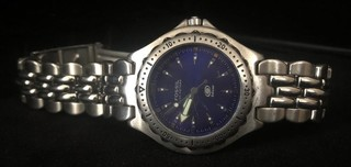 Mens Fossil Blue AM-3067 Stainless Steel Watch