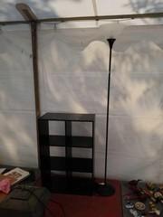 Bookshelf and lamp