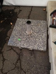 Marble base outdoor umbrella stand