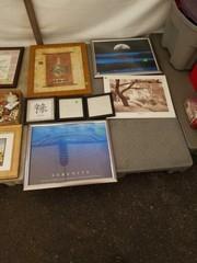 Skid of framed pictures