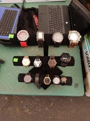 Lot Of Watches And Stand