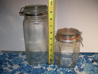 2 GLASS LATCH ID CONTAINERS