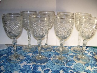 SET OF 8 CRYSTAL STEMWARE GLASSES