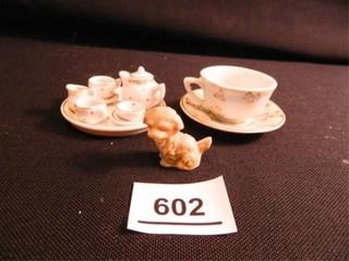 Miniature Tea Set  Cup Saucer