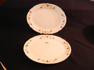 Halls Autumn leaf Platters  2