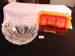lord s Supper Platter  Glass Bowl