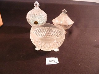 Crystal Covered Dish  Glass Dishes