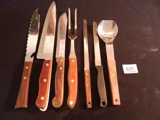 Knives Assortment  Serving Fork