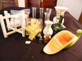 Vases  Cornucopia  Bottle w lights