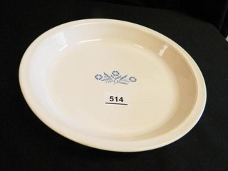 Corning Cornflower Blue Pie Plate