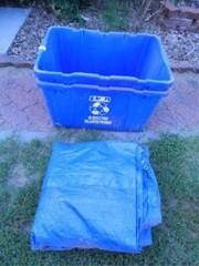 Recycling Bins 2  Used Tarp
