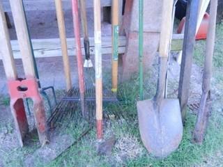 Yard Tools  Post Hole Digger  Rakes
