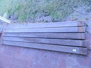 Weathered 2 x 4 lumber  5 Pieces