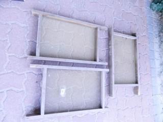 Wood Frames w Metal Screens
