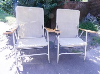 lawn Chairs   2  w Drink Holders