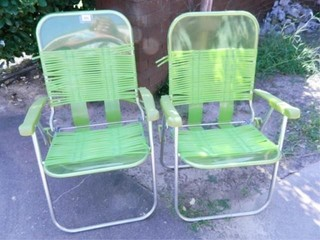 Green lawn Chairs  2