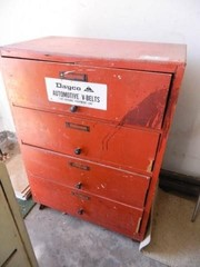 Wooden Cabinet w 4 Drawers