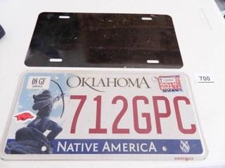 Oklahoma Car Tag and Plain Tag