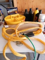Nylon Tow Rope w Hooks  Oil