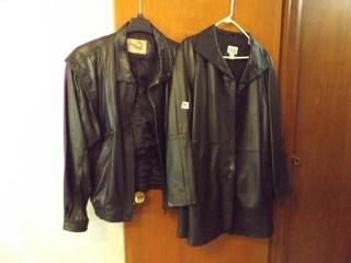 Men  Women leather Coats