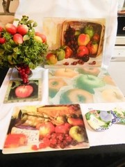 Glass Cutting Boards  Apple Decor