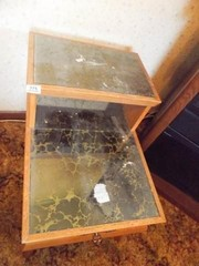 End Table  Mirror Top  Drawer