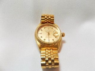 Rolex labeled Gold Tone Watch