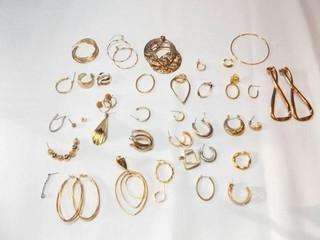 Gold Tone Pierced Earrings   Sets  Singles