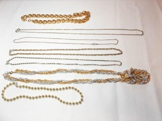 Silver  Gold Tone Textured Necklaces  7