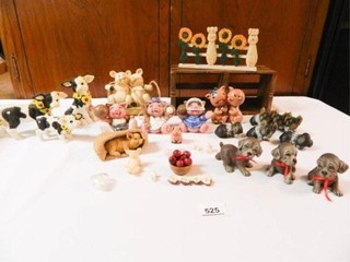 Figurines Cows  Pigs  Dogs
