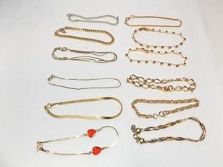 Silver  Gold Tone Bracelets  12