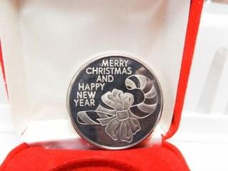 1997 Christmas Coin   999 Fine Silver