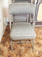 Folding Chairs  Matching  Upholstered  4