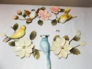 Bird Wall Decor   2 pieces