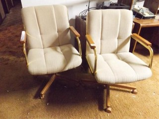 Swivel Chairs  Upholstered  Adjustable  2