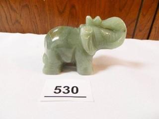 Glass or Polished Stone Elephant