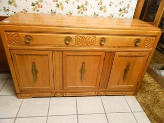 Buffet w Carved Wood Accents