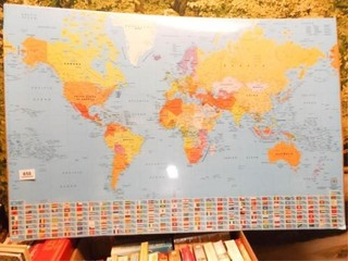World Map Poster  2008   unopened
