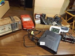 Radios  Clocks  Phones  VHS Winder