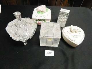 Glass   Porcelain like Containers