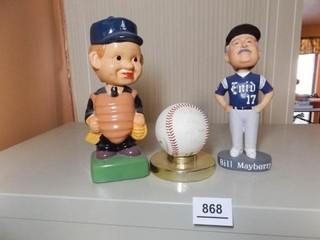 Bobbleheads  Signed Baseball