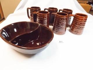 Mar Crest Divided Bowl  Mugs  6