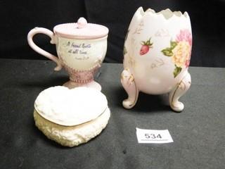lenox Trinket Box  Egg Vase